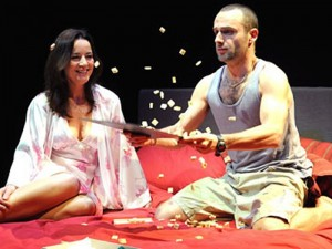 Amanda Drew and Andrew Lincoln in Parlour Song. Photo: Tristram Kenton