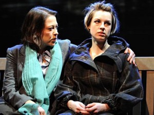 Nicola Walker and Jessica Raine in Gethsemane. Photo: Tristram Kenton