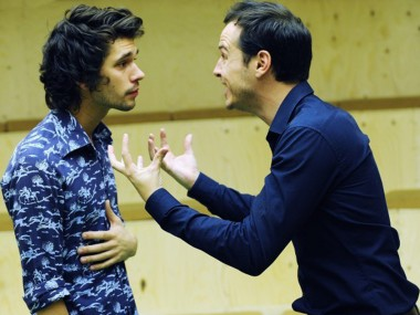 Ben Whishaw and Andrew Scott in Cock. Photo: Stephen Cummiskey