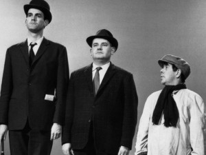 John Cleese, Ronnie Barker and Ronnie Corbett in the Class Sketch on the BBC's Frost Report (1966)