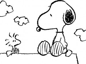 Snoopy, Charlie Brown's pet beagle in the comic strip Peanuts by Charles M Schulz