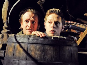 Jamie Parker and Samuel Barnett Rosencrantz and Guildenstern Are Dead. Photo: Tristram Kenton