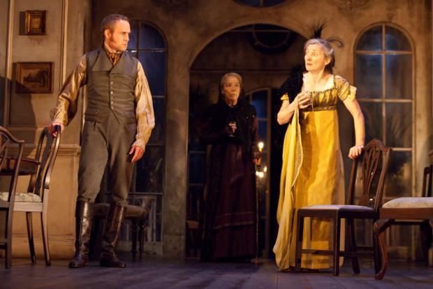 Peter McDonald, Ursula Jones and Brid Brennan in The Veil. Photo: Helen Warner