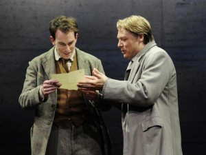 Pip Carter and Shaun Dooley in The Dark Earth and the Light Sky. Photo: Nobby Clark