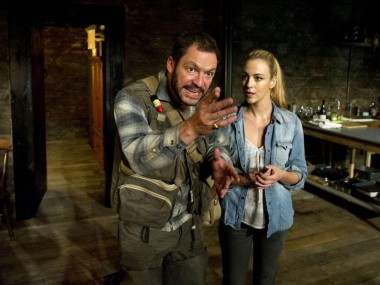 Dominic West and Miranda Raison in The River. Photo: Geraint Lewis