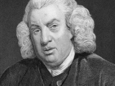 Critic and dictionary-maker Samuel Johnson