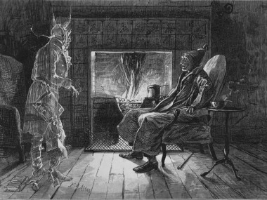 Scrooge and Marley's Ghost by EA Abbey (1876)