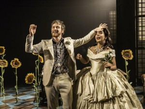 James McAvoy and Kathryn Drysdale in The Ruling Class. Photo: Johan Persson
