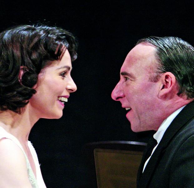 Tara Fitzgerald and Antony Sher in Broken Glass. Photo: John Haynes