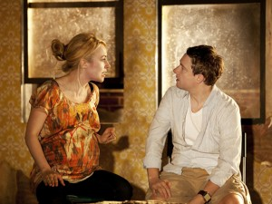 Sarah Goldberg and Martin Freeman in Clybourne Park. Photo: Johan Persson
