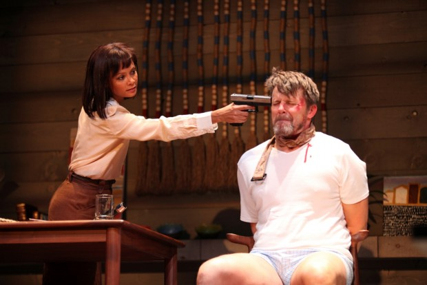 Thandie Newton and Anthony Calf in Death and the Maiden. Photo: Ellie Kurttz