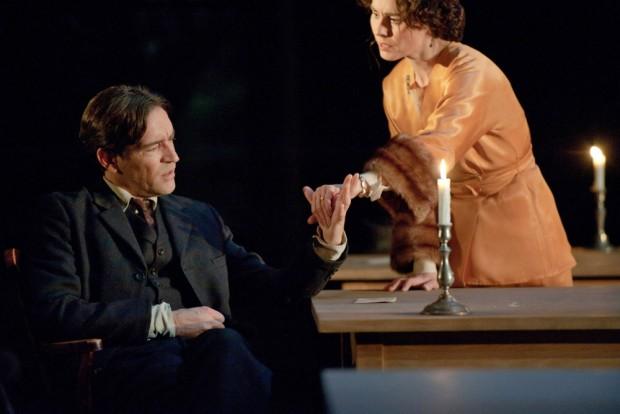 Ben Chaplin and Tara Fitzgerald in Farewell to the Theatre. Photo: Stephen Cummiskey