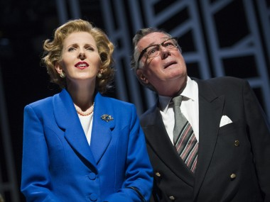 Fenella Woolgar and Jeff Rawle in Handbagged. Photo: Tristram Kenton