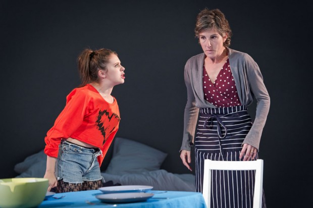 Bel Powley and Tamsin Greig in Jumpy. Photo: Robert Workman