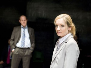 Andrew Woodall and Joanne Froggatt in The Knowledge. Photo: Geraint Lewis