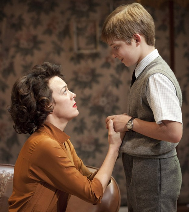 Helen McCrory and Laurence Belcher in The Late Middle Classes. Photo: Johan Persson