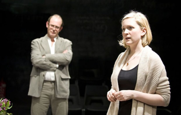 Andrew Woodall and Claire Price in Little Platoons. Photo: Geraint Lewis