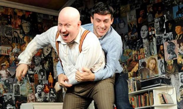 Matt Lucas and Chris New in Prick Up Your Ears. Photo: Tristram Kenton