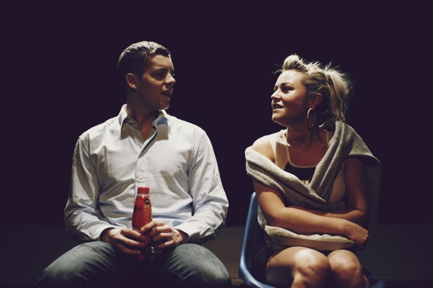 Russell Tovey and Jaime Winstone in Sex with a Stranger. Photo: Noel McLaughlin