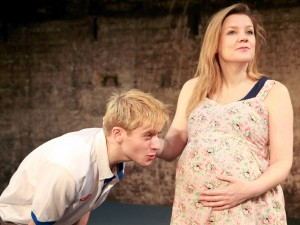 Joseph Drake and Olivia Poulet in Shivered. Photo: Helen Murray