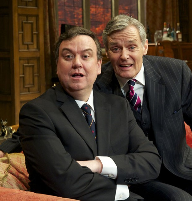 Richard McCabe and Simon Williams in Yes, Prime Minister. Photo: Alastair Muir