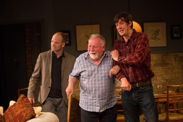drian Rawlings, Kenneth Cranham and Adrian Bower in The Herd. Photo: Mark Douet