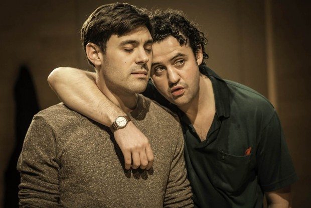 Liam Garrigan and Daniel Mays in Hero. Photo: Johan Persson
