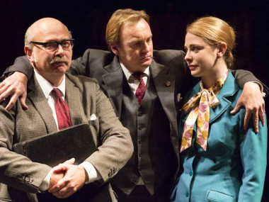 Vincent Franklin, Philip Glenister and Lauren O'Neil in This House. Photo: Johan Persson