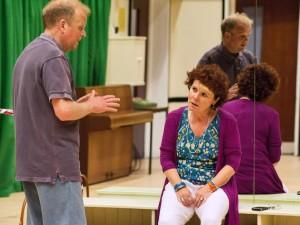 Toby Jones and Imelda Staunton in Circle Mirror Transformation. Photo: Stephen Cummiskey