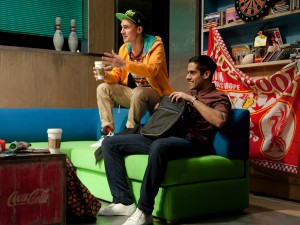 Henry Lloyd-Hughes and Sacha Dhawan in NSFW. Photo: Stephen Cummiskey