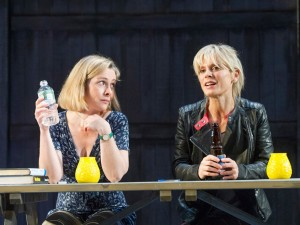 Emma Fielding and Emilia Fox in Rapture, Blister, Burn. Photo: Alastair Muir