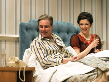 Michael Praed and Josefina Gabrielle in Two Into One. Photo: Catherine Ashmore