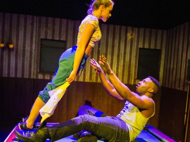 Kirsty Oswald and Mark Ebulue in Othello. Photo: Tristram Kenton