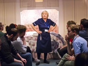 Eileen O'Brien in Who Cares. Photo: Tristram Kenton