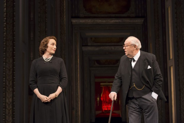 Kristin Scott Thomas and David Calder in The Audience. Photo: Johan Persson