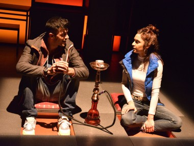 Adam Samuel-Bal and Krupa Pattini in Blood. Photo: Robert Day