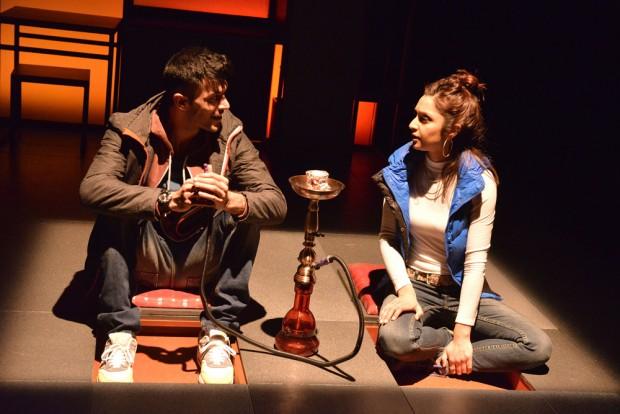 Adam Samuel-Bal and Krupa Pattini in Blood. Photo: Robert Day