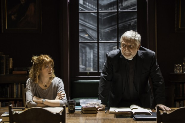 Rebecca Humphries and Simon Russell Beale in Temple. Photo: Johan Persson