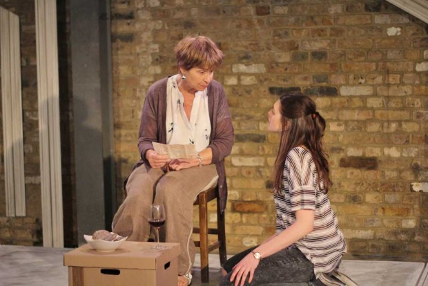 Brigit Forsyth and Jasmine Blackborow in Now This Is Not the End. Photo: Alex Parker