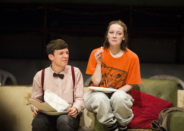 David Moorst and Morfydd Clark in Violence and Son. Photo: Helen Maybanks