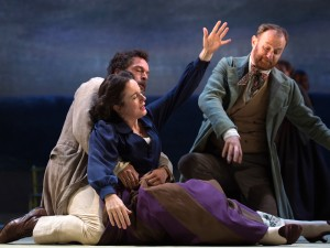 Amanda Drew, John Light and Mark Gatiss in Three Days in the Country. Photo: Bill Knight