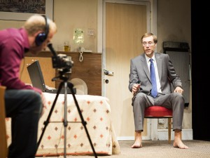 Steffan Rhodri and Stephen Merchant in The Mentalists. Photo: Helen Maybanks
