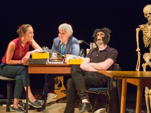 Natalie Radmall-Quirke, Mark Lockyer and Daniel O'Keefe in Martyr. Photo: Stephen Cummiskey