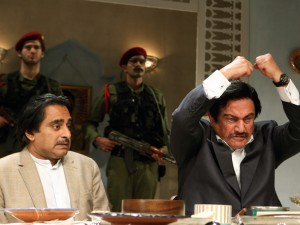 Sanjeev Bhaskar and Steven Berkoff in Dinner with Saddam. Photo: Catherine Ashmore