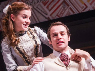Rebecca Collingwood and Alex Waldmann in Widowers' Houses. Photo: Tristram Kenton