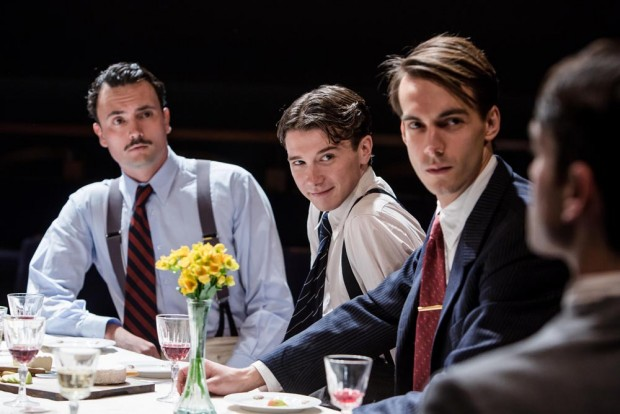 William Belchambers, Patrick McNamee and Joe Eyre in French Without Tears. Photo: Richard Davenport