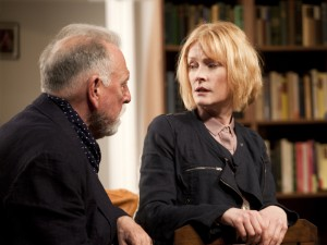 Kenneth Cranham and Claire Skinner in The Father. Photo: Simon Annand