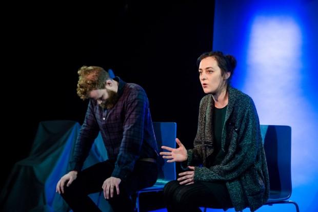 Tom Shepherd and Izabella Urbanowicz in The Session. Photo: Richard Davenport