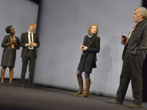 Madeline Appiah, Joshua James, Amanda Lawrence and Alan Williams in Here We Go. Photo: Keith Pattison