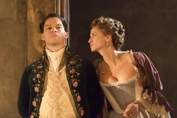 Dominic West and Janet McTeer in Les Liaisons Dangereuses. Photo: Johan Persson